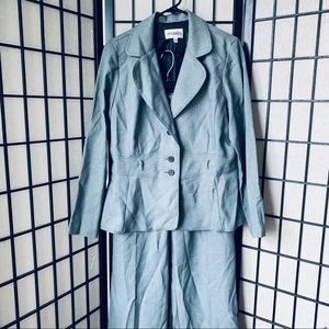 Studio 1 gray 2pc. Blazer & pants sz 14